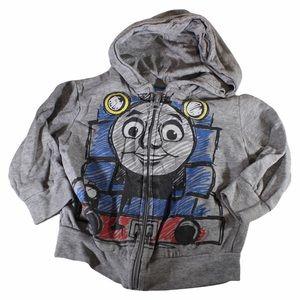 THOMAS THE TRAIN Full Zip Hoodie Grey 2T